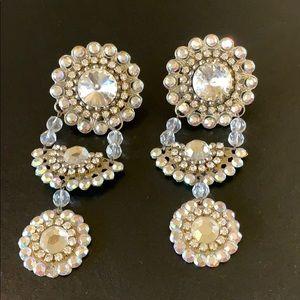 Jewelry - 🌺SALE🌺Art Deco stoned clip dangle earrings